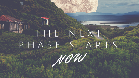 "moon rising and ""the next phase starts now"""