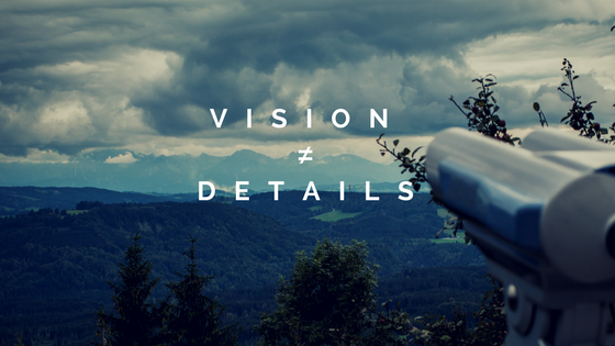 vision is not equal to details + mountain overlook
