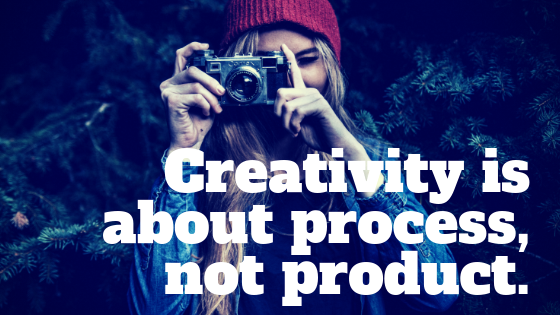 We can't use our usual outcome oriented mindset when it comes to the creative process - here's why.