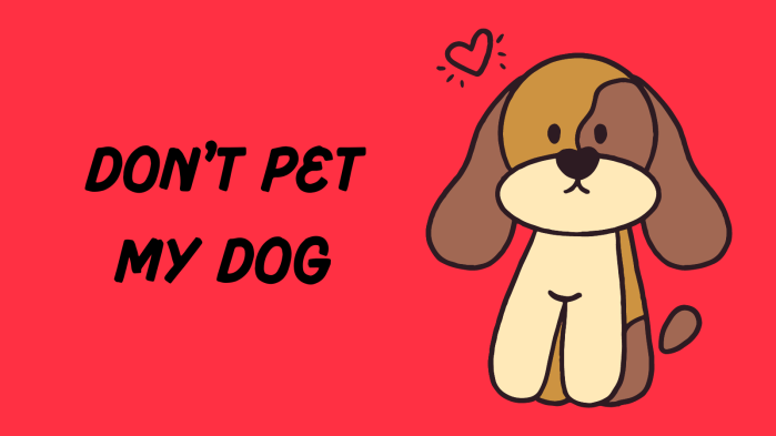 About to pet my dog without permission? Just don't.